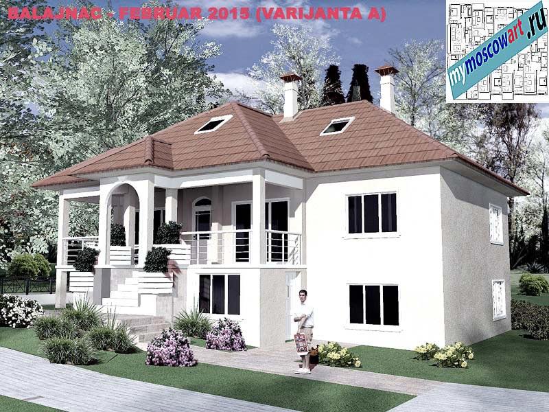 Проект дома - Милан (Деревня Балайнац - Сербия) (15)
