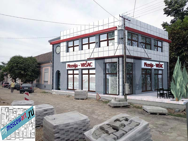 Проект бизнес-жилого дома - Цветкович (Город Вршац - Сербия) (3)