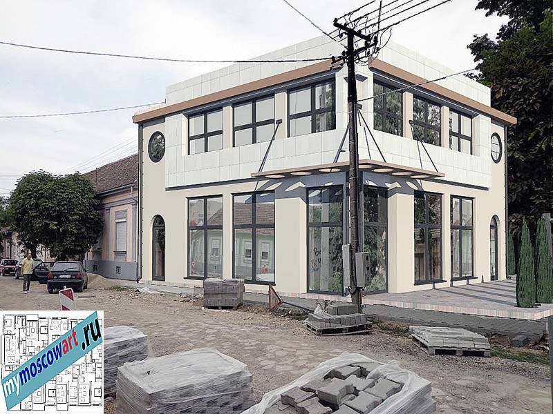 Проект бизнес-жилого дома - Цветкович (Город Вршац - Сербия) (4)