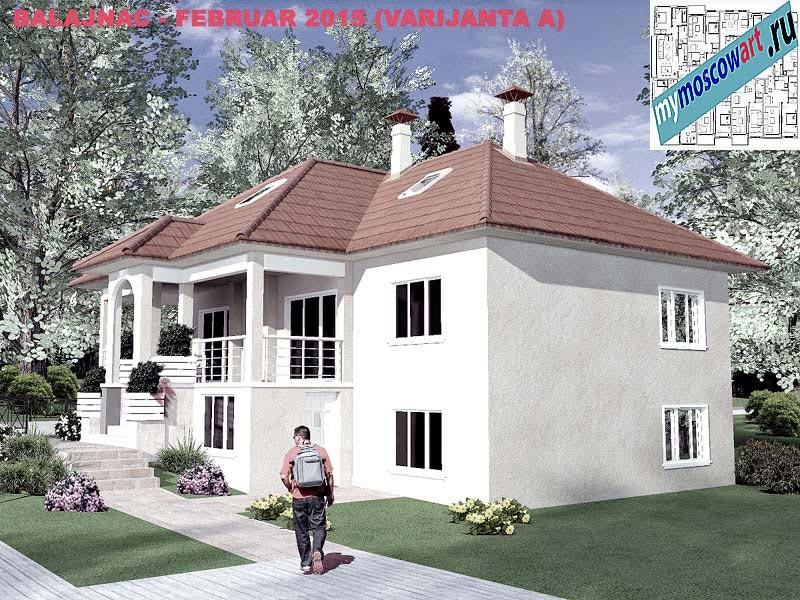 Проект дома - Милан (Деревня Балайнац - Сербия) (16)