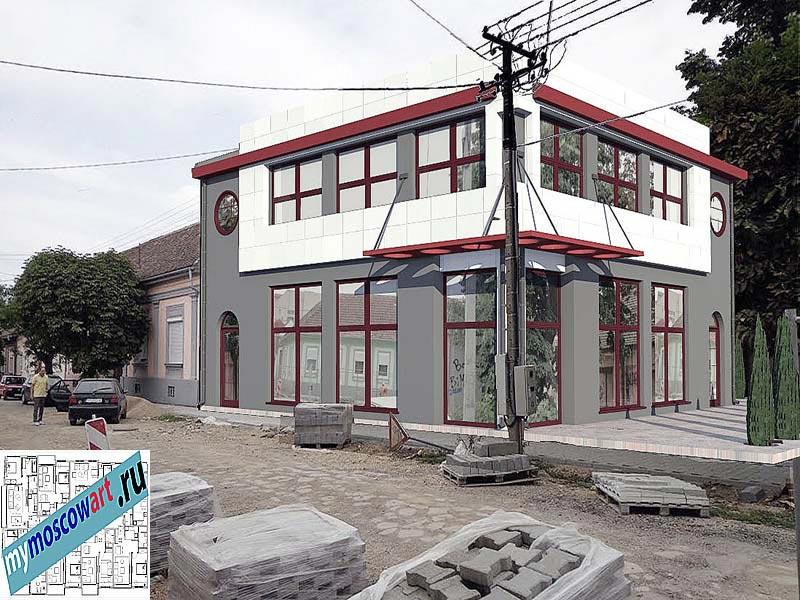 Проект бизнес-жилого дома - Цветкович (Город Вршац - Сербия) (7)
