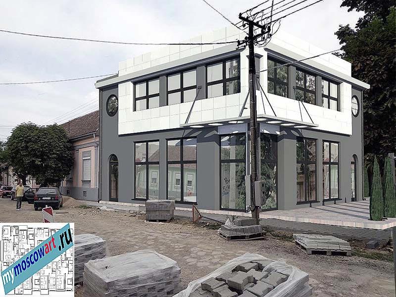 Проект бизнес-жилого дома - Цветкович (Город Вршац - Сербия) (8)