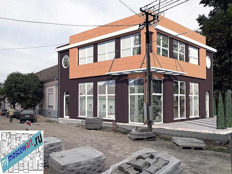 Проект бизнес-жилого дома - Цветкович (Город Вршац - Сербия) (10)