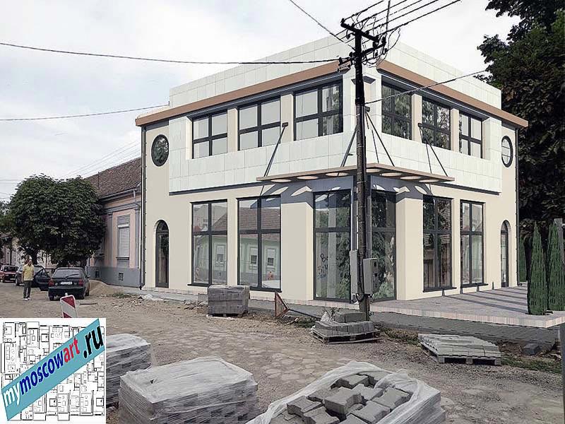 Проект бизнес-жилого дома - Цветкович (Город Вршац - Сербия) (12)