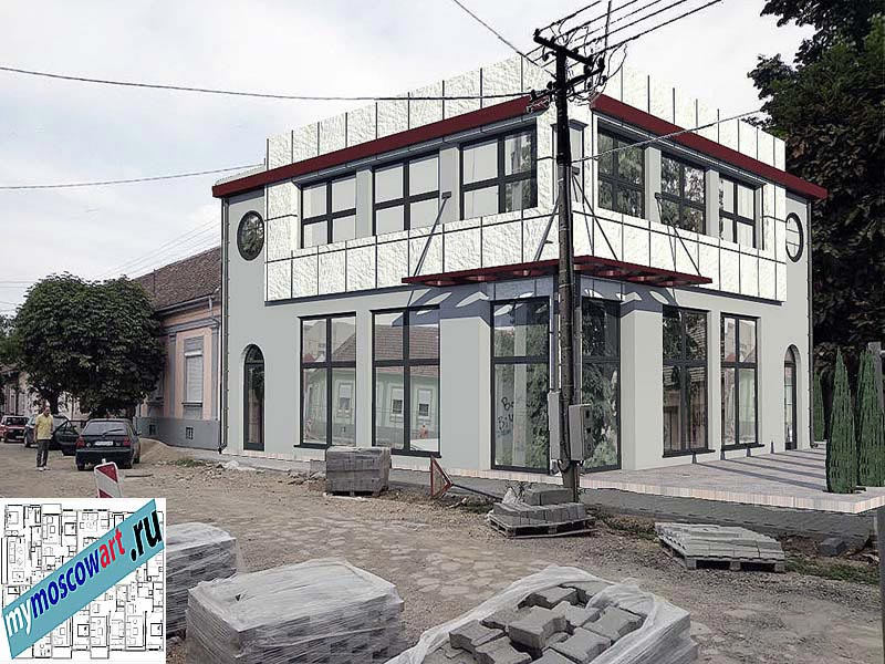 Проект бизнес-жилого дома - Цветкович (Город Вршац - Сербия) (13)
