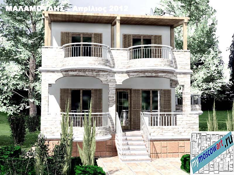 Проект дома - Маламудис (Город Аспровальта - Греция) (2)