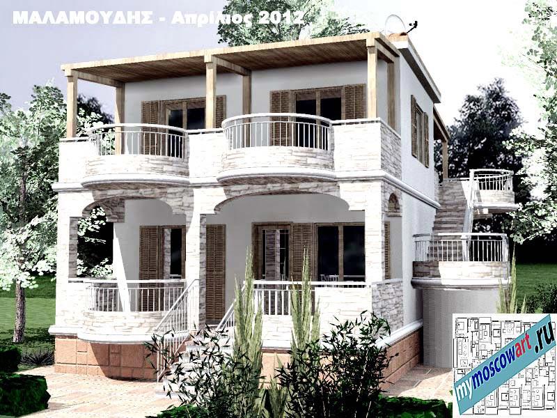 Проект дома - Маламудис (Город Аспровальта - Греция) (3)