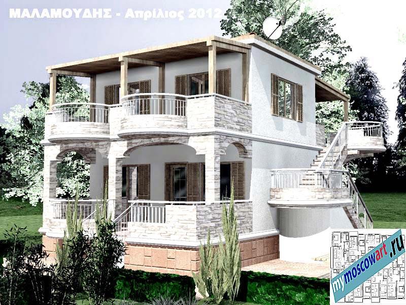 Проект дома - Маламудис (Город Аспровальта - Греция) (4)