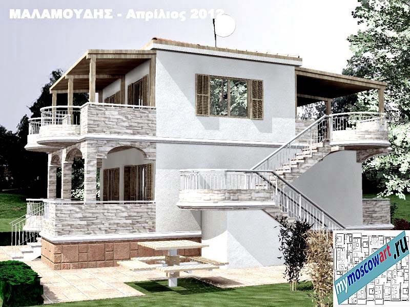 Проект дома - Маламудис (Город Аспровальта - Греция) (6)
