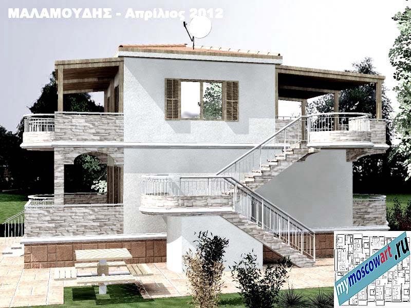 Проект дома - Маламудис (Город Аспровальта - Греция) (7)