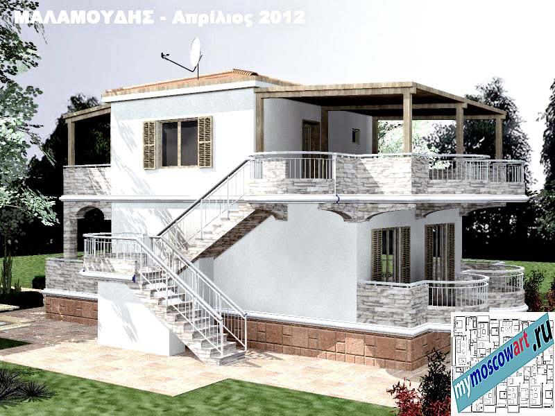 Проект дома - Маламудис (Город Аспровальта - Греция) (8)
