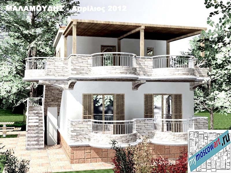 Проект дома - Маламудис (Город Аспровальта - Греция) (10)
