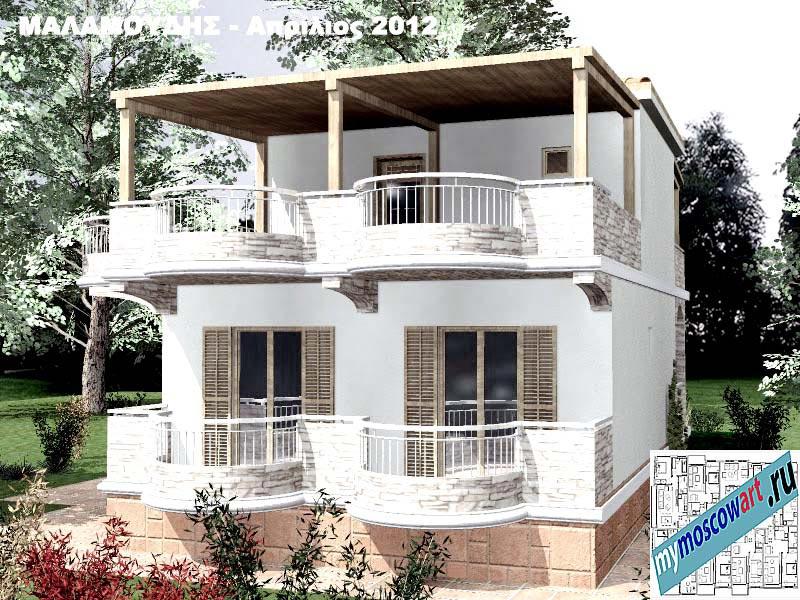 Проект дома - Маламудис (Город Аспровальта - Греция) (11)
