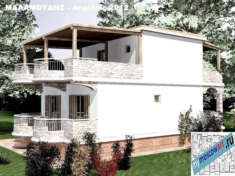 Проект дома - Маламудис (Город Аспровальта - Греция) (12)