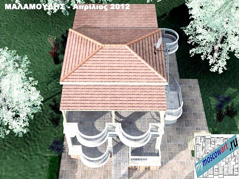 Проект дома - Маламудис (Город Аспровальта - Греция) (13)