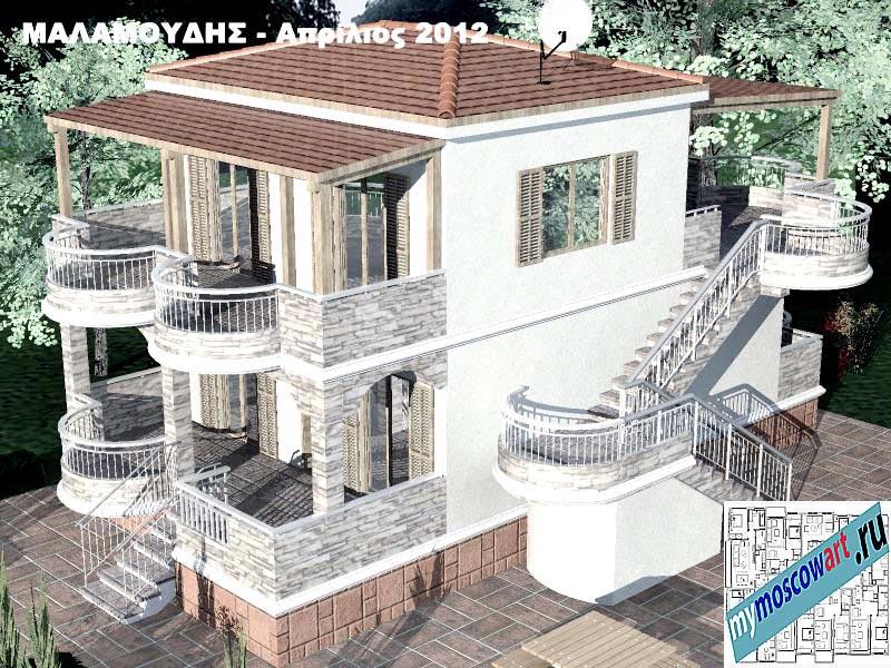 Проект дома - Маламудис (Город Аспровальта - Греция) (14)