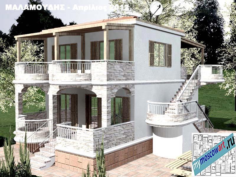Проект дома - Маламудис (Город Аспровальта - Греция) (15)