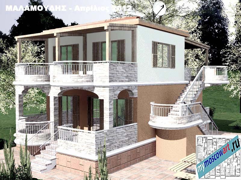 Проект дома - Маламудис (Город Аспровальта - Греция) (16)