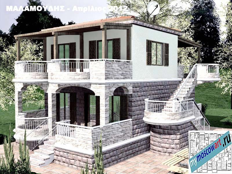 Проект дома - Маламудис (Город Аспровальта - Греция) (17)