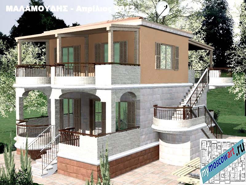 Проект дома - Маламудис (Город Аспровальта - Греция) (18)