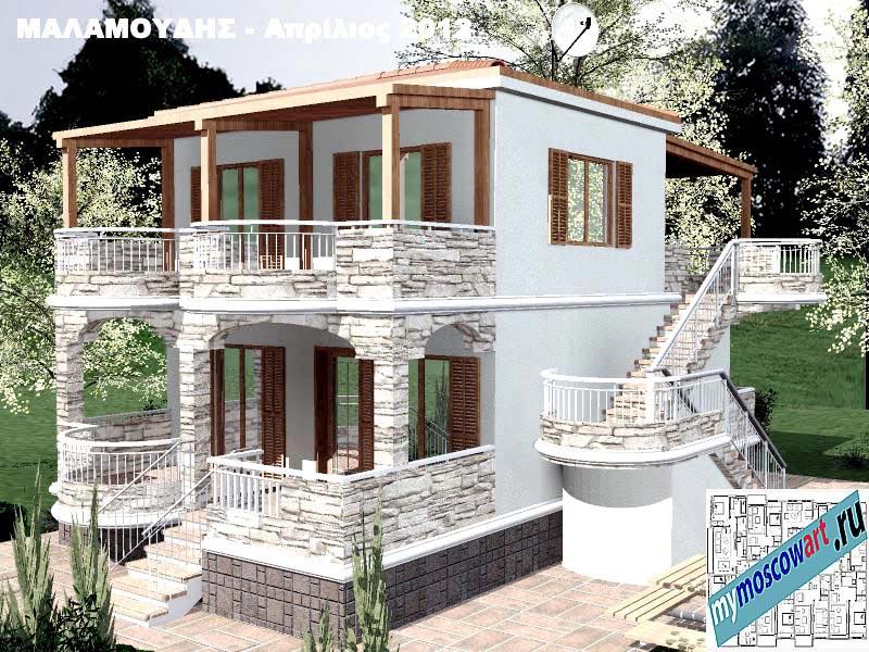 Проект дома - Маламудис (Город Аспровальта - Греция) (20)