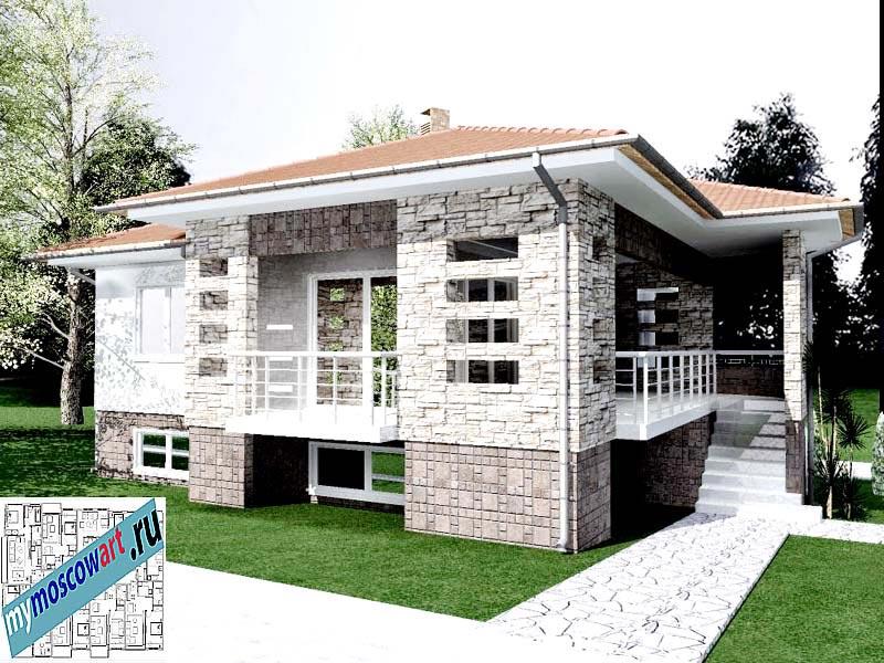 Проект дома - Драган (Деревня Балайнац - Сербия) (3)