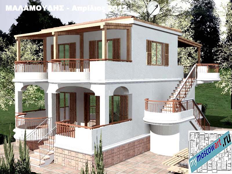 Проект дома - Маламудис (Город Аспровальта - Греция) (21)