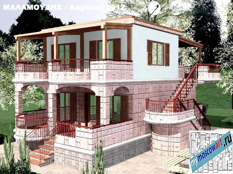 Проект дома - Маламудис (Город Аспровальта - Греция) (23)