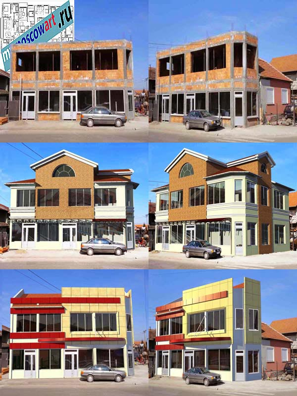 Проект бизнес здания - Неша (Город Парачин - Сербия) (1)