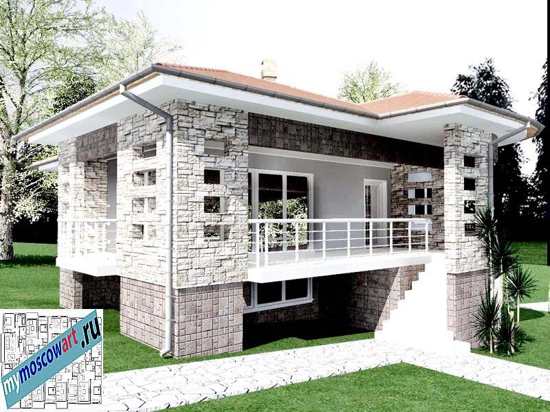 Проект дома - Драган (Деревня Балайнац - Сербия) (4)