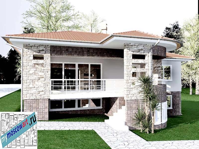 Проект дома - Драган (Деревня Балайнац - Сербия) (5)