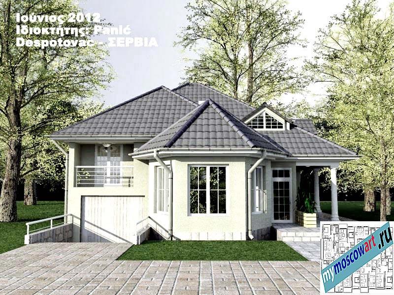 Проект дома - Панич (Деревня Деспотовац - Сербия) (1)