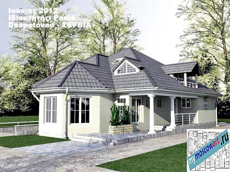 Проект дома - Панич (Деревня Деспотовац - Сербия) (3)