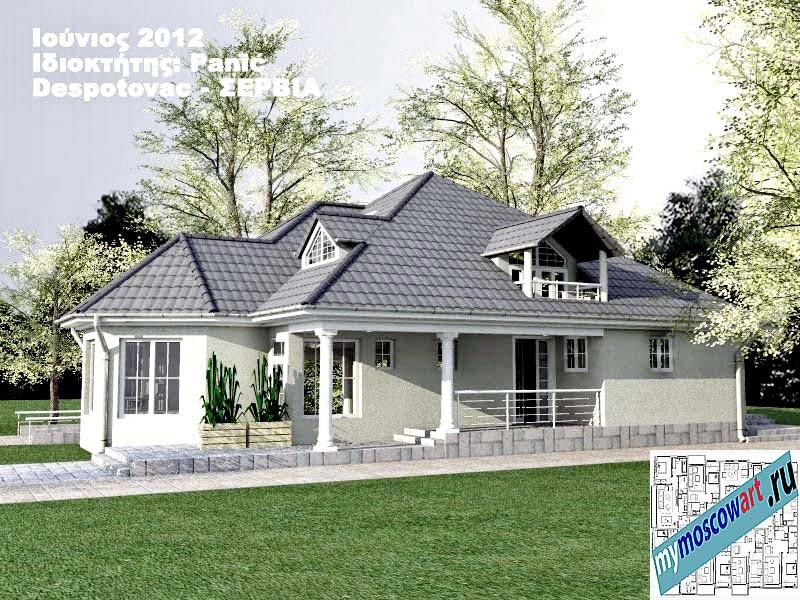Проект дома - Панич (Деревня Деспотовац - Сербия) (4)