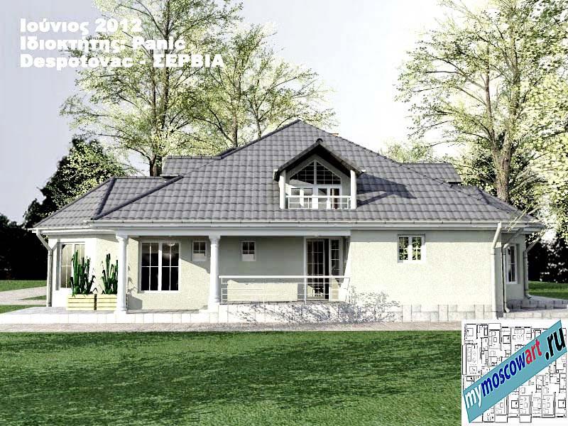 Проект дома - Панич (Деревня Деспотовац - Сербия) (5)