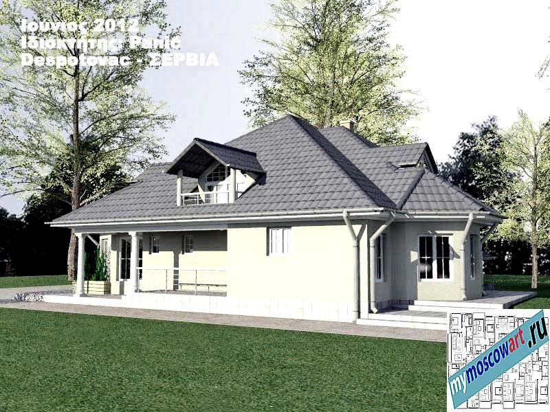 Проект дома - Панич (Деревня Деспотовац - Сербия) (6)