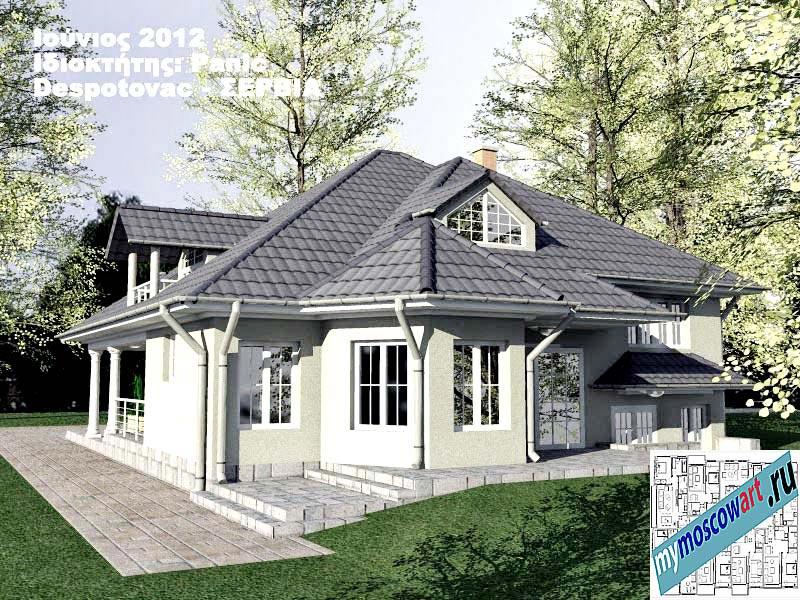 Проект дома - Панич (Деревня Деспотовац - Сербия) (7)