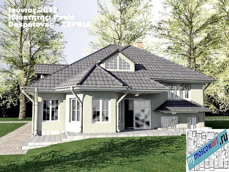 Проект дома - Панич (Деревня Деспотовац - Сербия) (8)