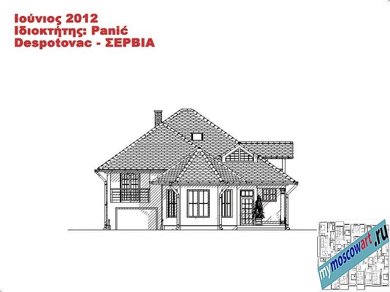 Проект дома - Панич (Деревня Деспотовац - Сербия) (11)