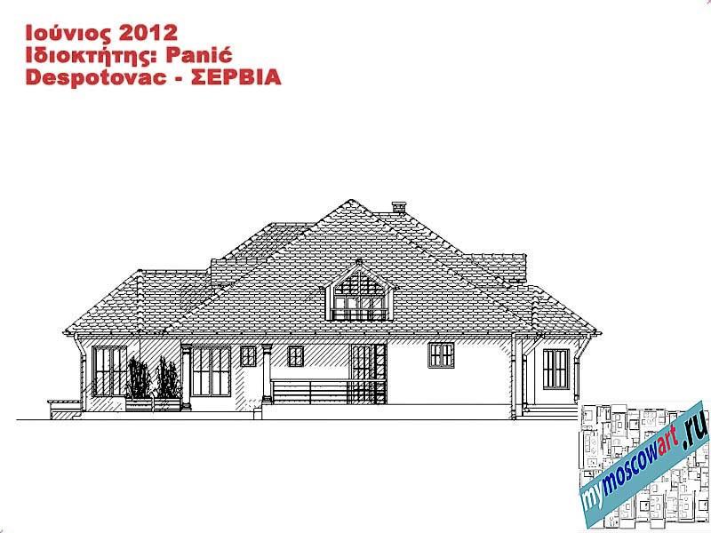 Проект дома - Панич (Деревня Деспотовац - Сербия) (12)