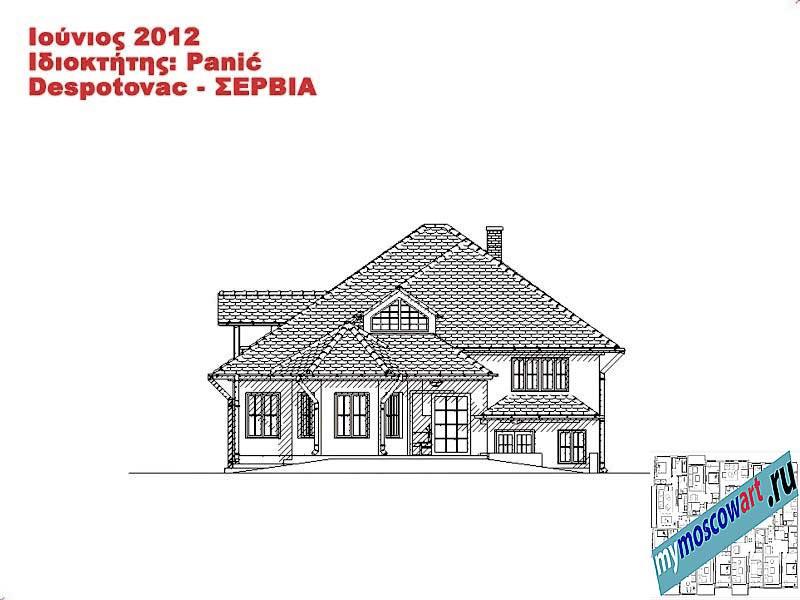 Проект дома - Панич (Деревня Деспотовац - Сербия) (13)