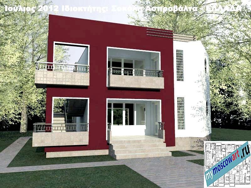 Проект дома - Сокол (Город Аспровальта - Греция) (1)