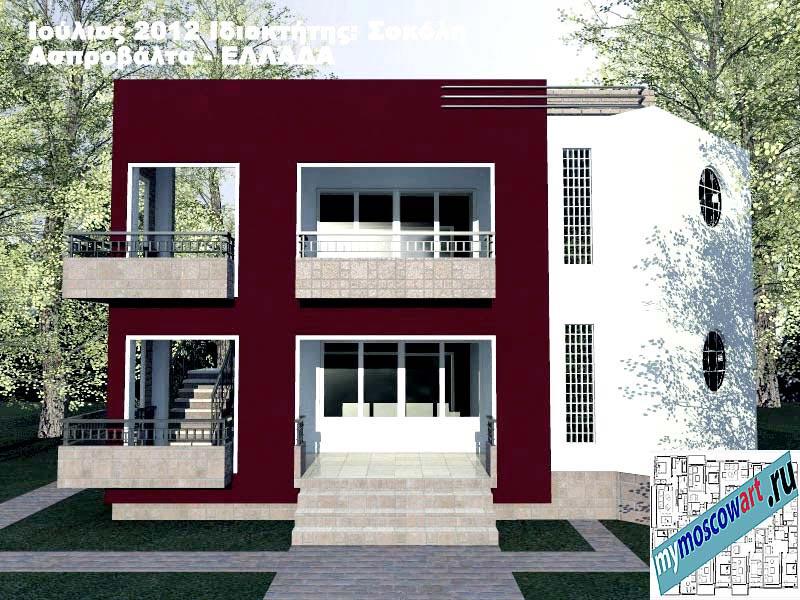 Проект дома - Сокол (Город Аспровальта - Греция) (2)