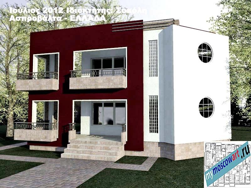 Проект дома - Сокол (Город Аспровальта - Греция) (3)