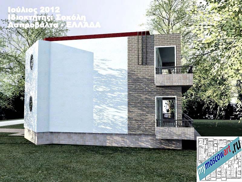 Проект дома - Сокол (Город Аспровальта - Греция) (6)