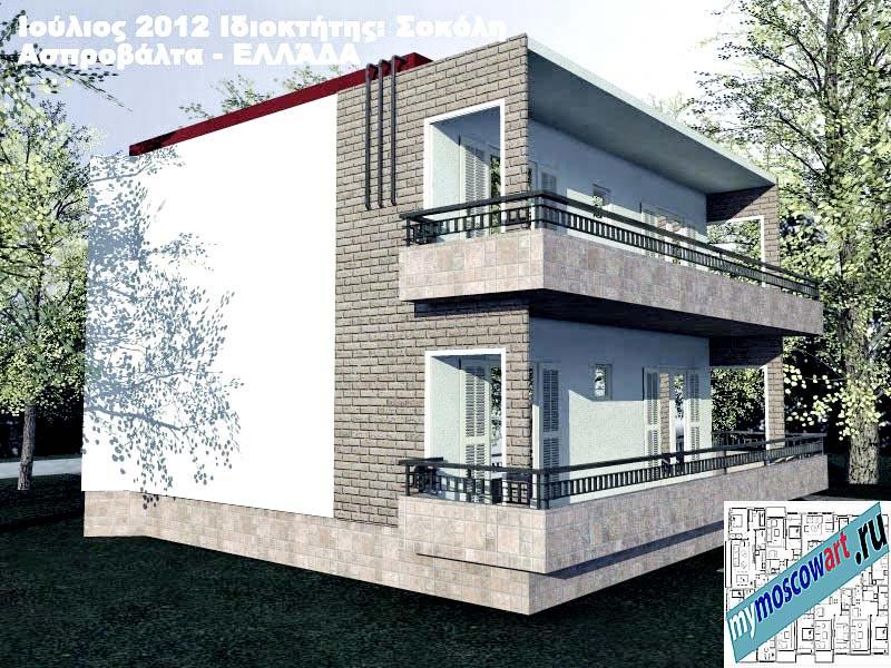 Проект дома - Сокол (Город Аспровальта - Греция) (7)