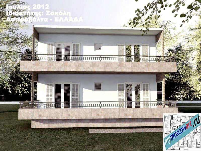 Проект дома - Сокол (Город Аспровальта - Греция) (8)