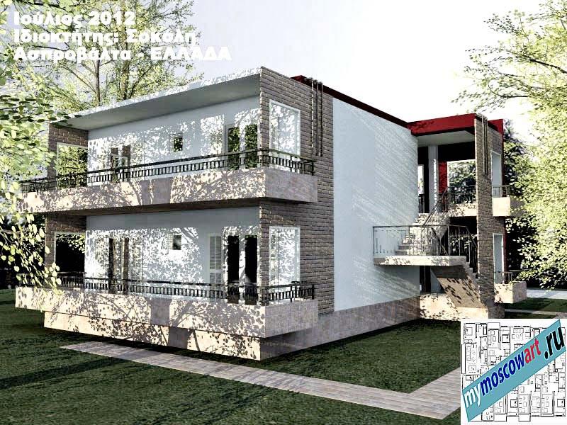 Проект дома - Сокол (Город Аспровальта - Греция) (9)