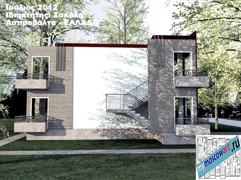 Проект дома - Сокол (Город Аспровальта - Греция) (10)