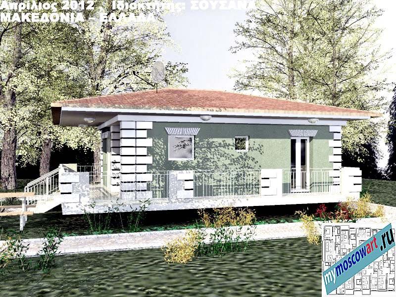 Проект дома - Сузана (Город Аспровальта - Греция) (2)